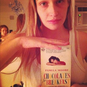 Lena Dunham tweets an instagram shot of the book cover held by her costar Jemima Kirke.
